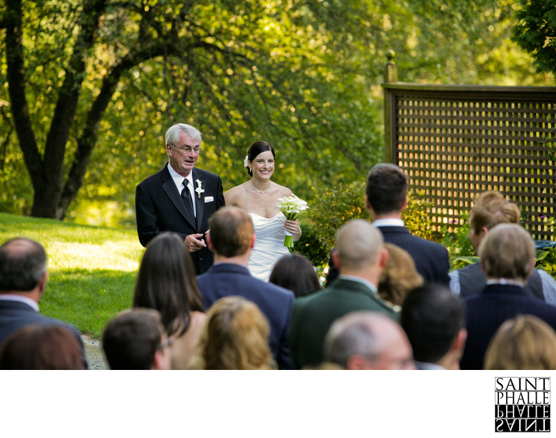 Castle Hill Resort Wedding  Father Bride Walking Aisle