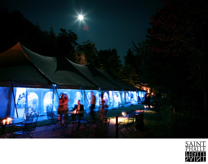 Castle Hill Resort Wedding Reception Under Full Moon