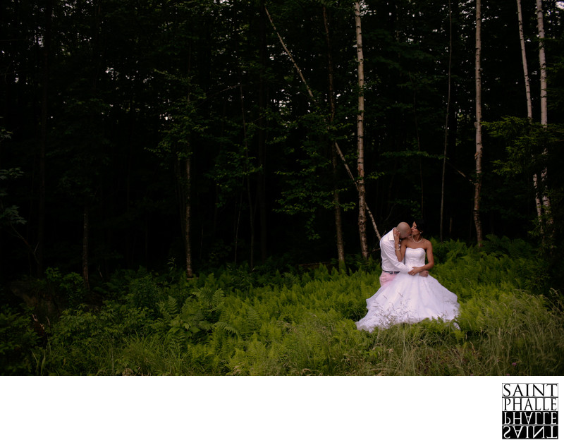 Mountain Top Inn Wedding Bride and Groom Moment of Zen