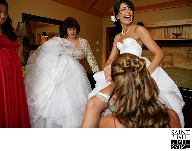 Mountain Top Inn Wedding Bride Getting Ready So Happy
