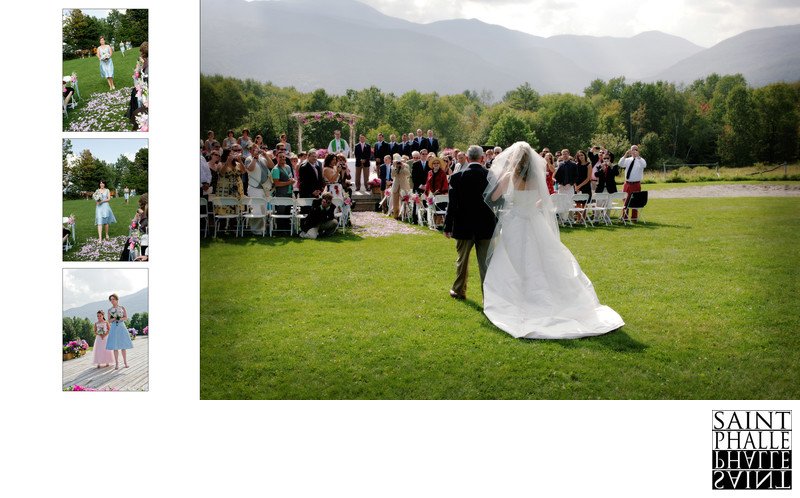 Trapp Family Lodge Wedding Bride Father Enter Ceremony