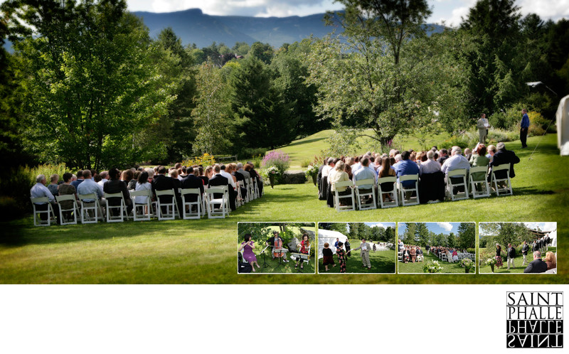 Stowehof Garden Wedding Mt Mansfield View Ceremony Site
