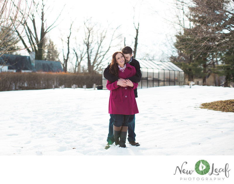Engagement Session at Penn State Altoona