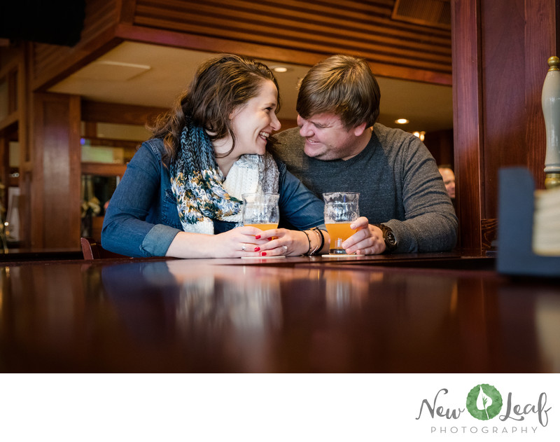 Engagement Session at a Brewery