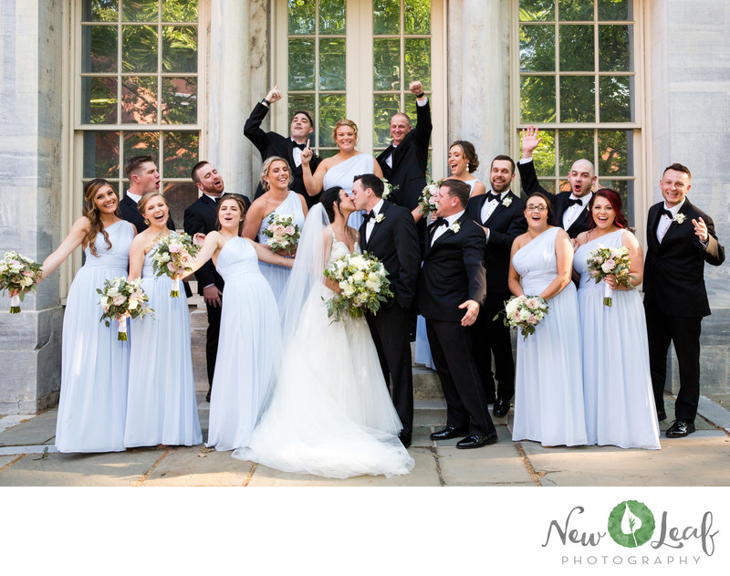 Bridal Party at Merchant Exchange Building