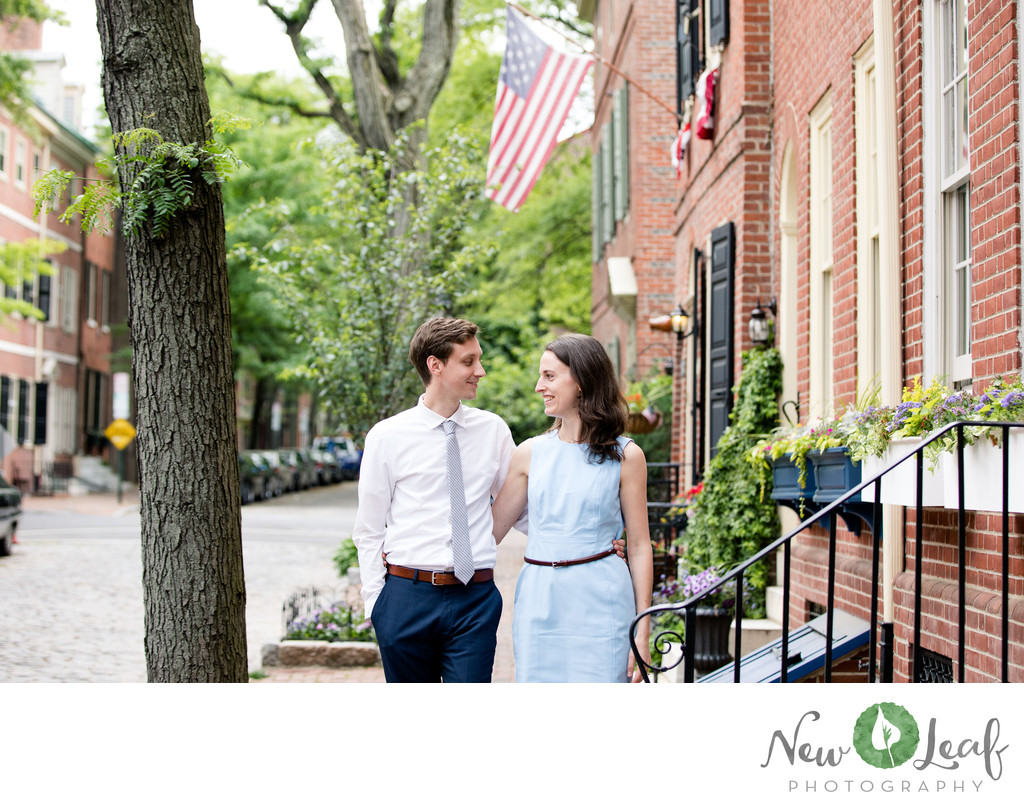 Engagement Session in Old City Philadelphia