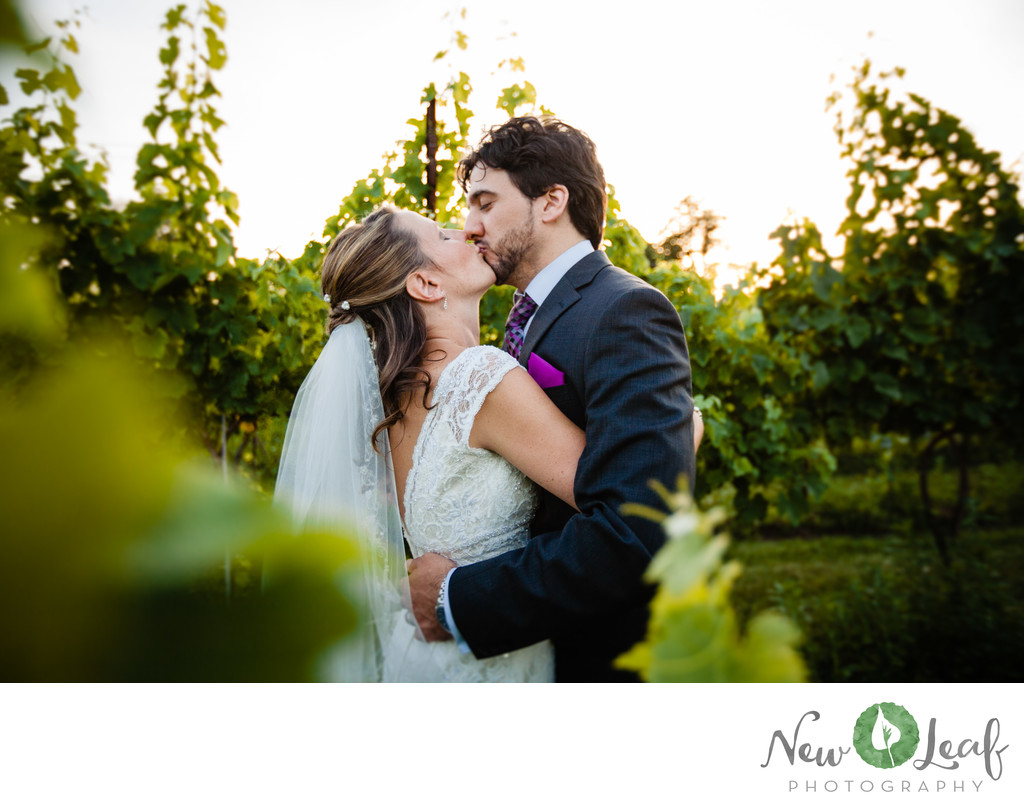 Bride and Groom at Moon Dancer Winery