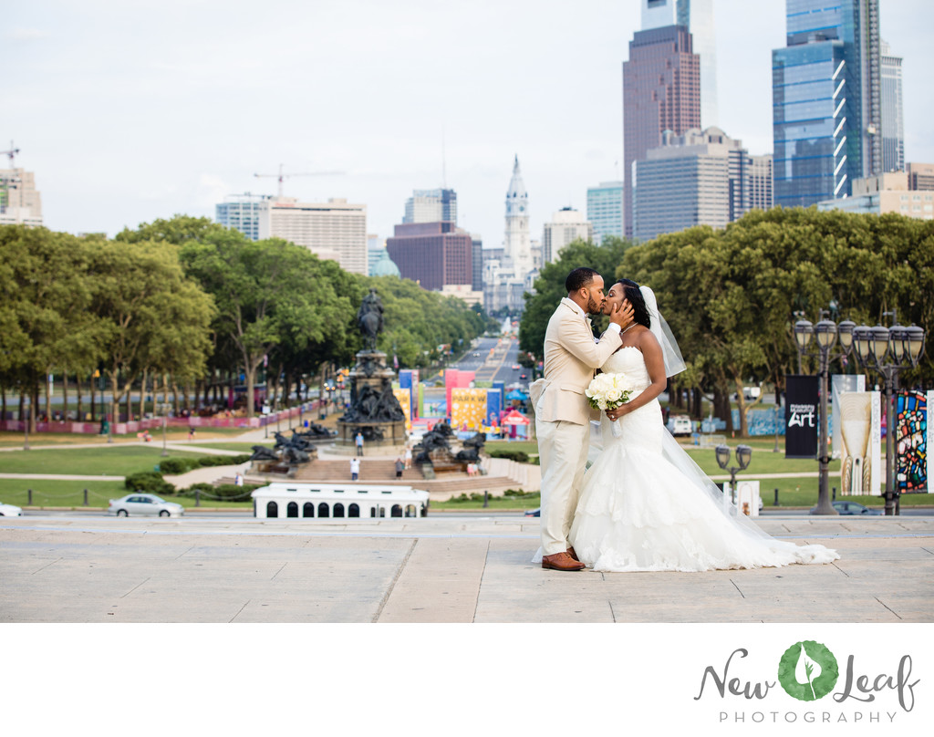 Wedding Photographs at Philadelphia Museum of Art