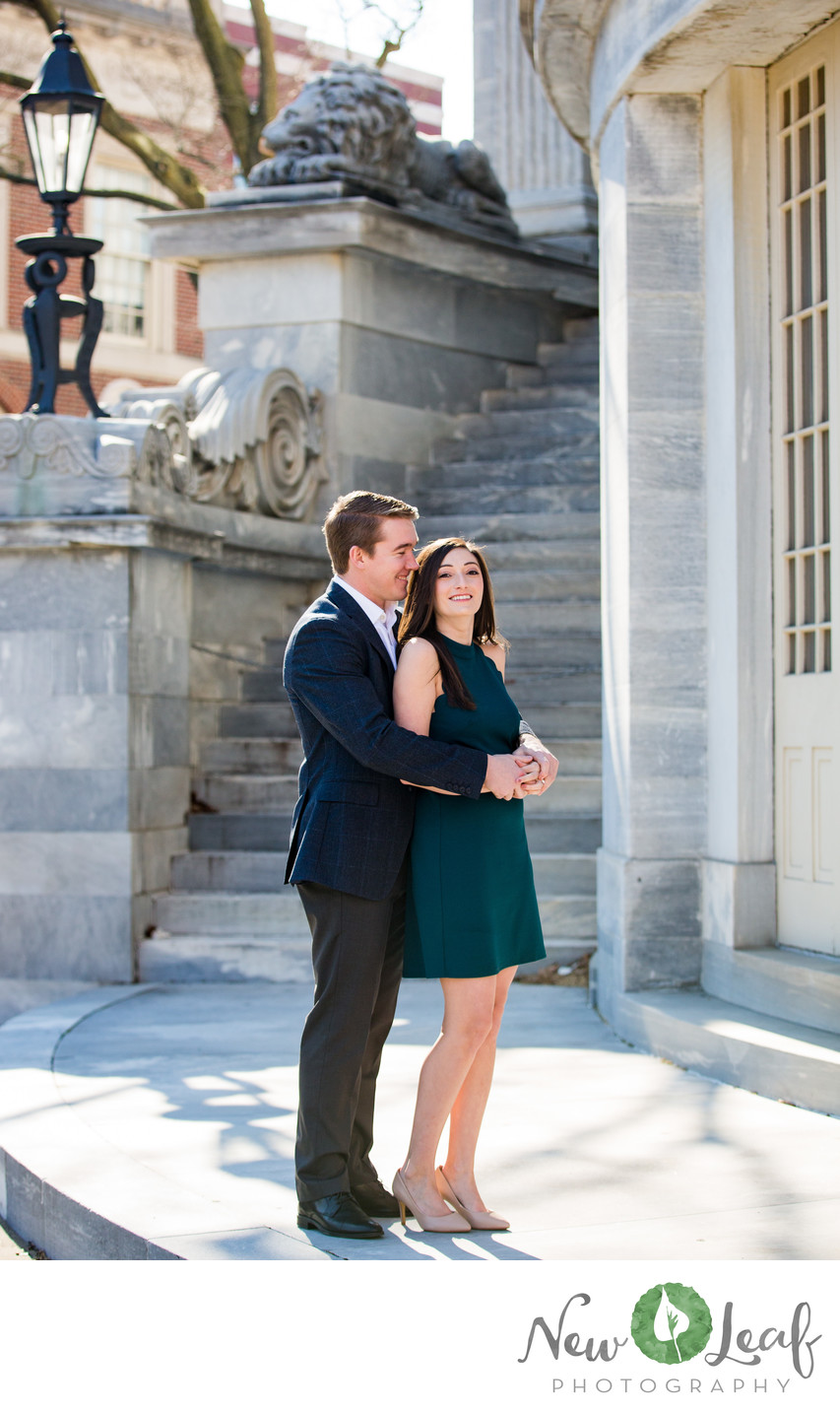 Engagement Session at Merchant Exchange Building