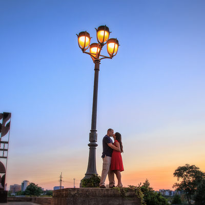 Engagement Session at Boathouse Row
