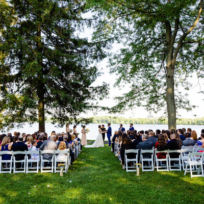 Wedding Ceremony at Glen Foerd Mansion