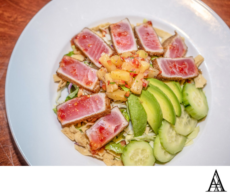 Ahi Salad Sacramento Menu Photographer