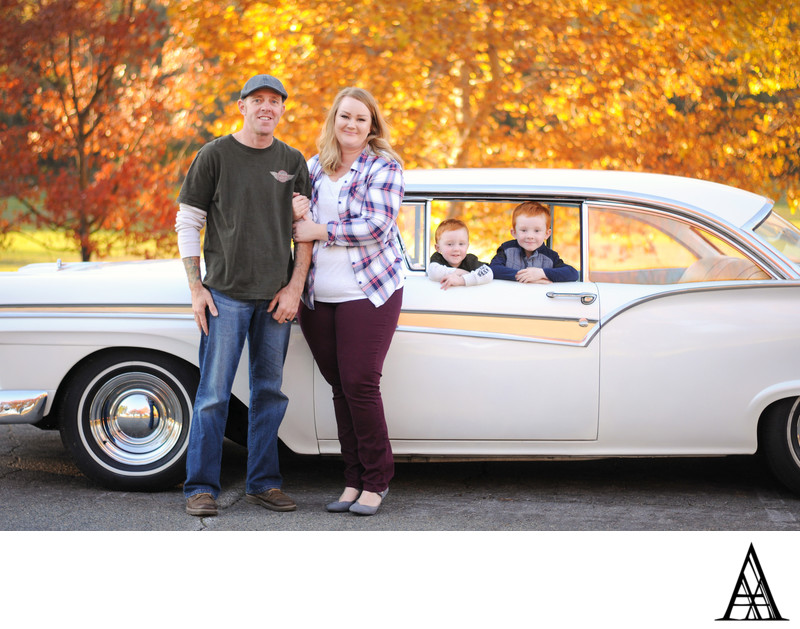Vintage Car Family Photography Services Sacramento