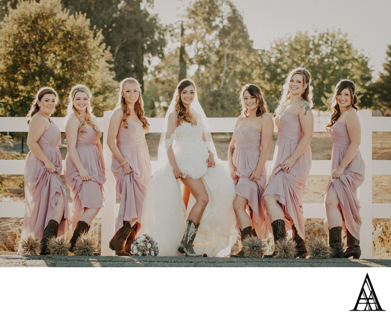 Country Wedding Photography Sacramento Bridesmaid Boots