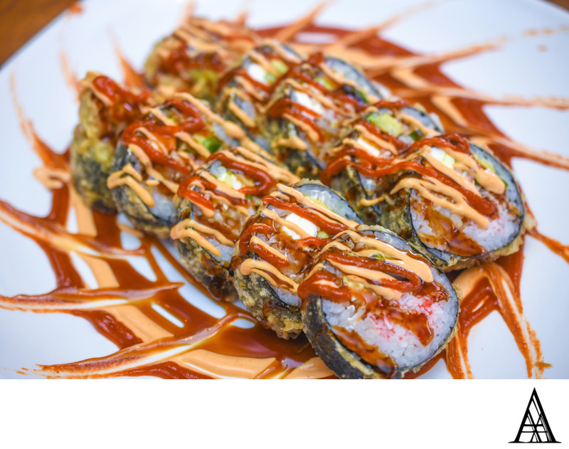 Best Sushi and Food Photographer Sacramento Menu