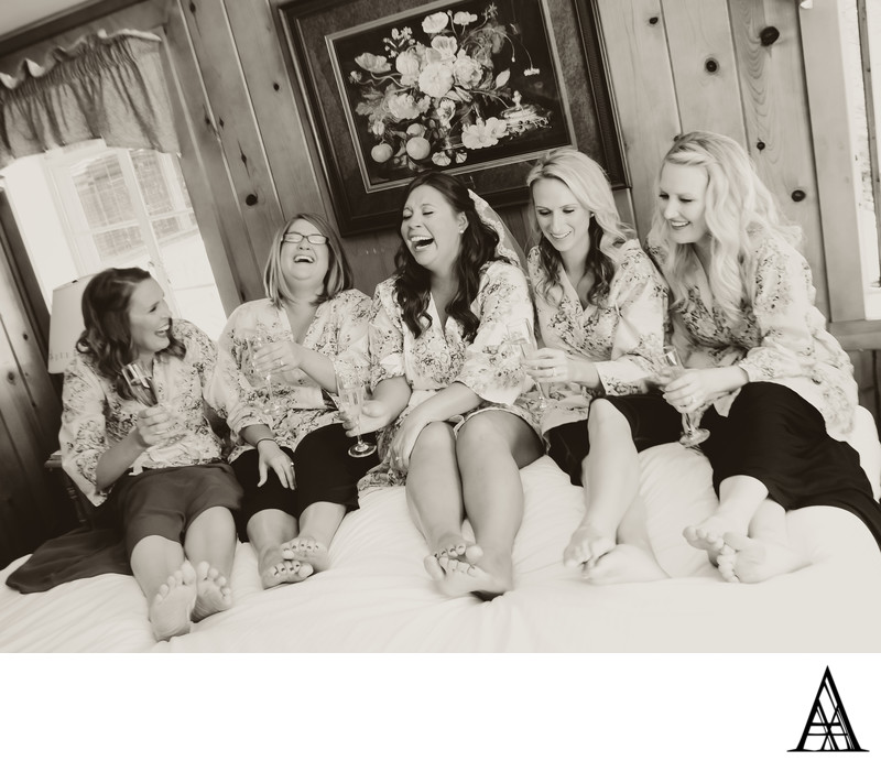 Bridesmaids Laughing Wedding Photographer Sacramento