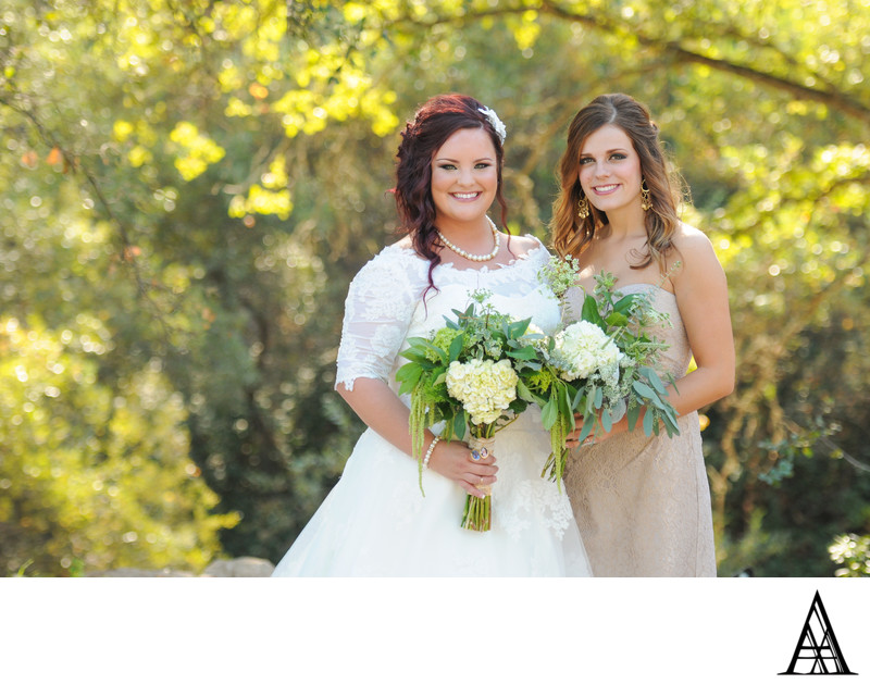 Maid of Honor and Bride Wedding Photographer Sacramento