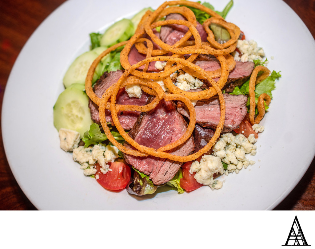 Best Sacramento Food Photographer Steak Salad