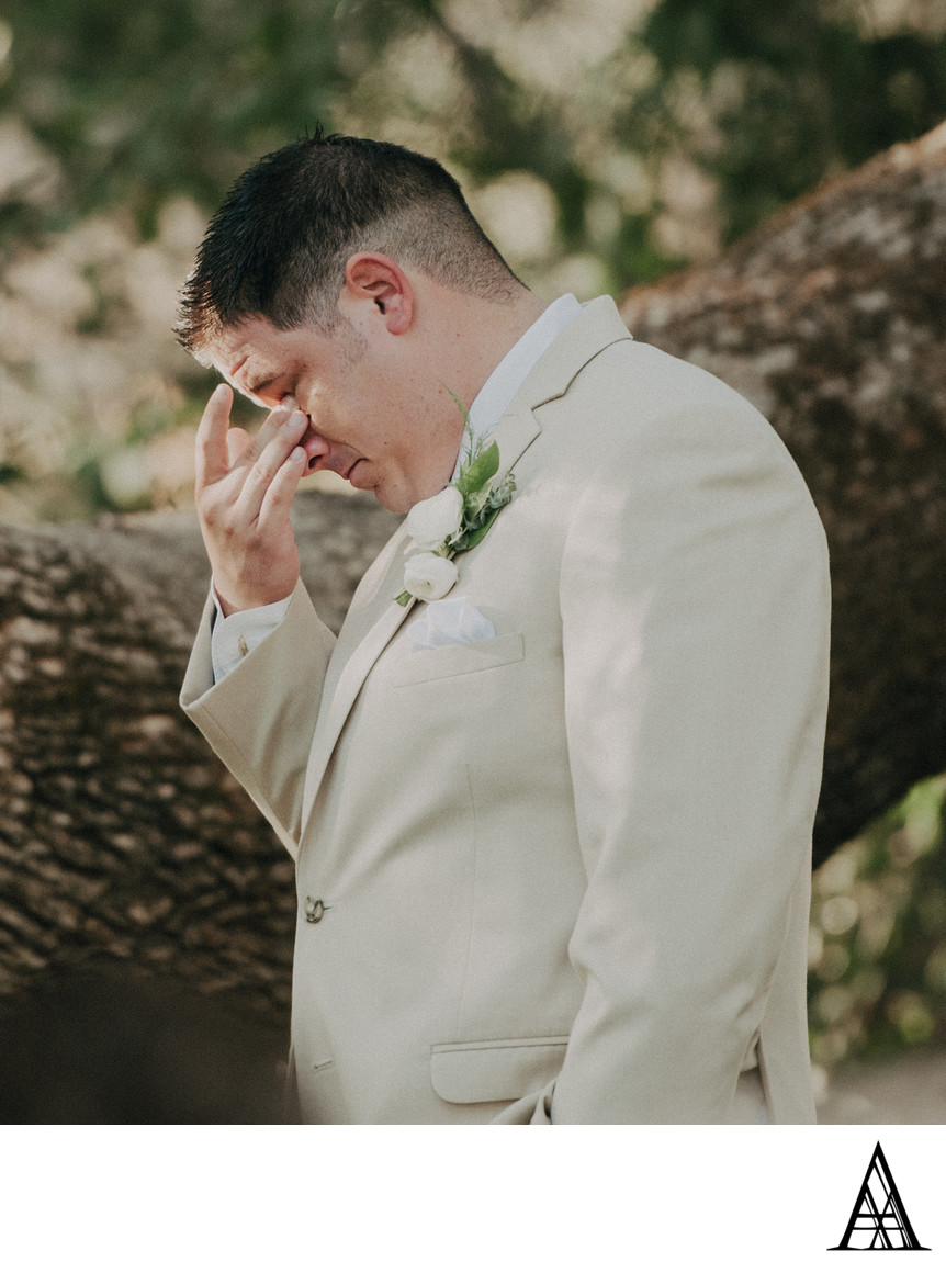 Groom Crying Sacramento Wedding Photographer