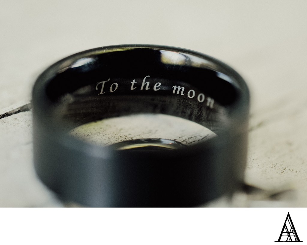 Engraved Wedding Rings Photographer Sacramento Luxury