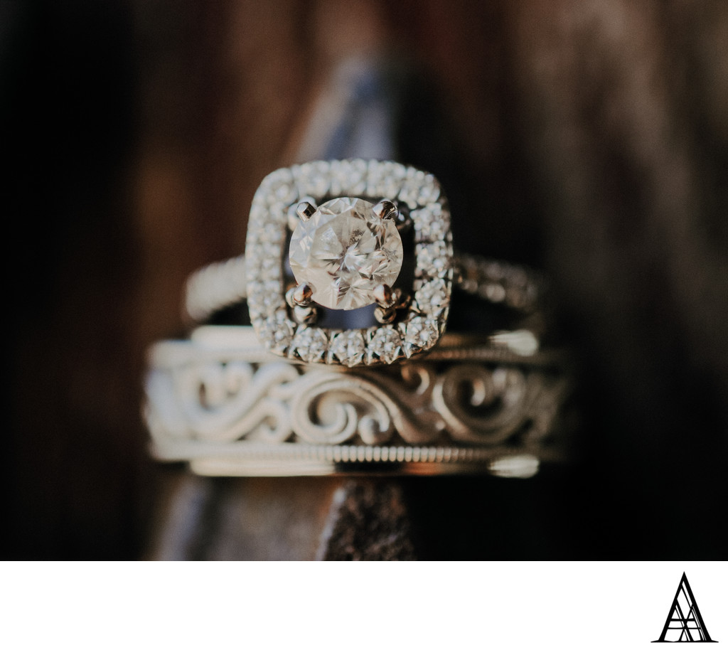 Artist Sacramento Wedding Photographer Rings Close Up