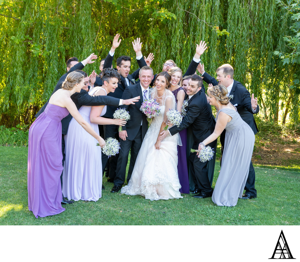 Bridal Party Rushing Bride Rocklin Wedding Photography