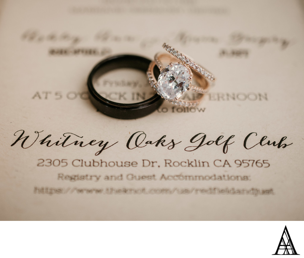 Wedding Rings and Invitation Photography Rocklin