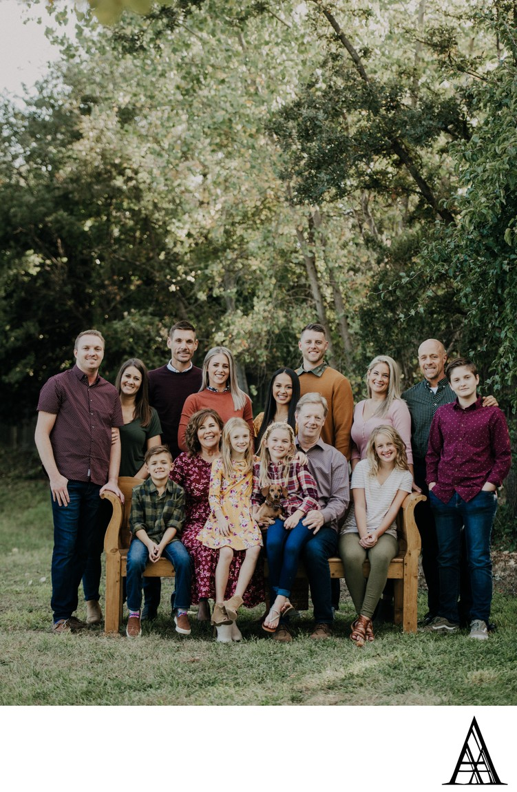 Large Family Group Photographer Sacramento Portraits