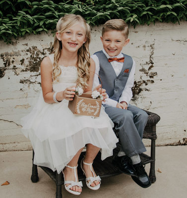 Ring Bearer and Flower Girl Portraits Attire