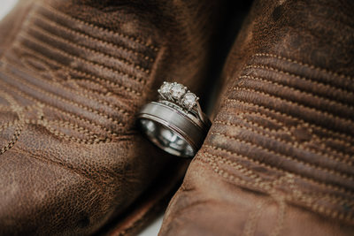 Sacramento Country Wedding Photographer Boots Rings