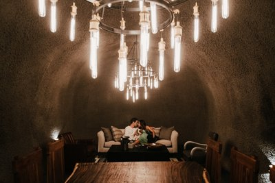 Private Wine Cave Engagement Photographer Napa Valley