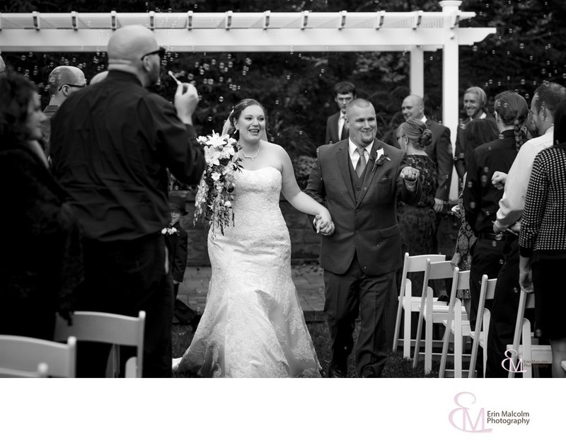 Bride and Groom Recessional, Settles Hill