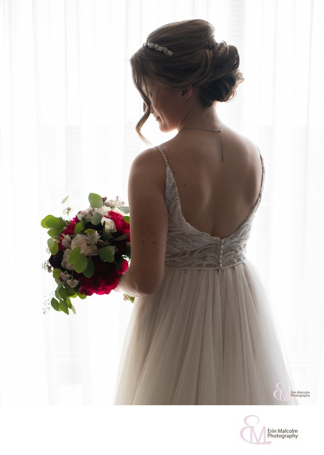 Bridal portrait, Waterfront Marriott, Troy NY