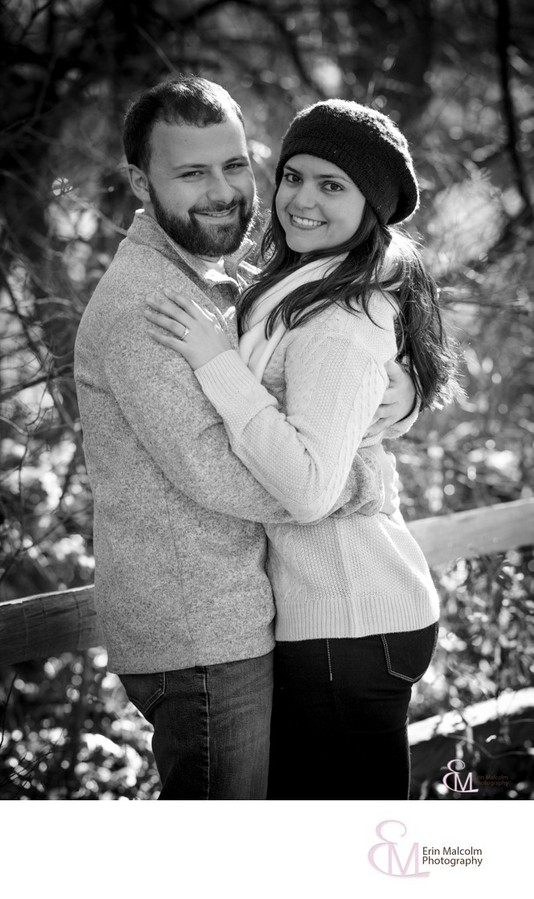 Saratoga walking path, engagement session