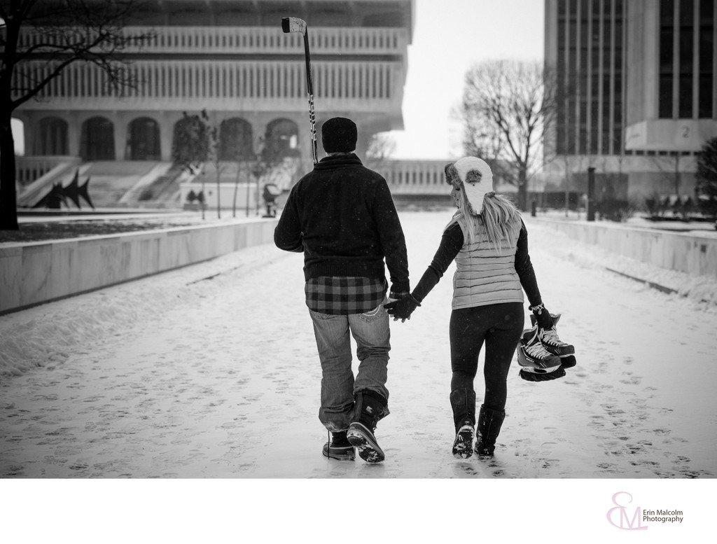 Empire State Plaza, Albany, NY Engagement Photographer