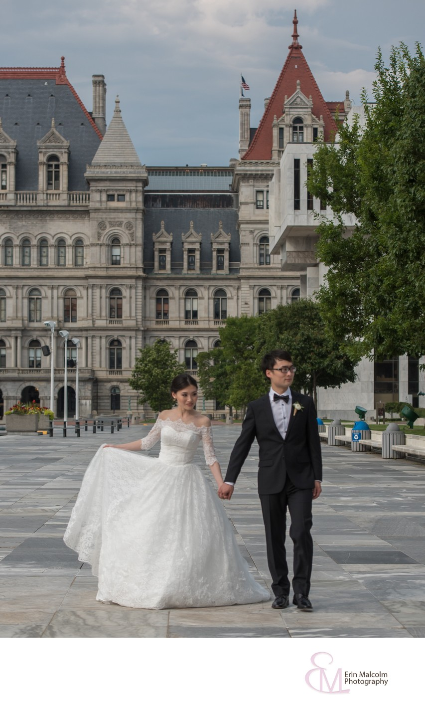Empire State Plaza Concourse Wedding Photographer