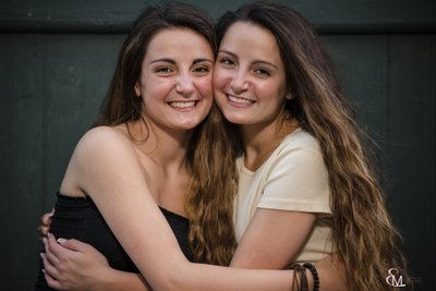 Troy, NY, Twin Sisters Senior Session