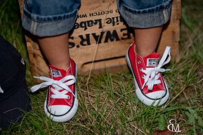 Red Converse Sneakers, Family Portrait Photographer