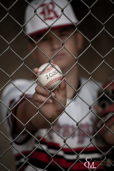Baseball themed Senior Portrait Session, Clifton Park