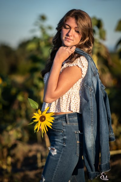 Sr. portrait, Galway sunflower field, CP photographer