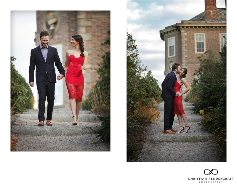 Beth and Jimmy's Engagement Session at The Crane Estate Page 7