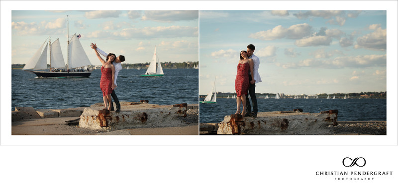 Heather and Greg's Engagement Newport Rhode Island 6
