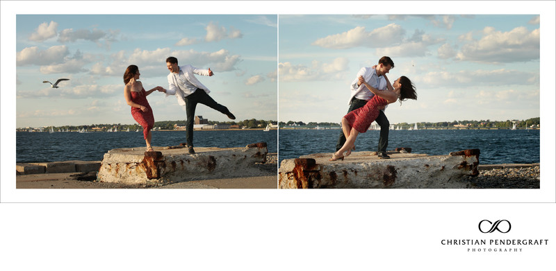 Heather and Greg's Engagement Newport Rhode Island 7