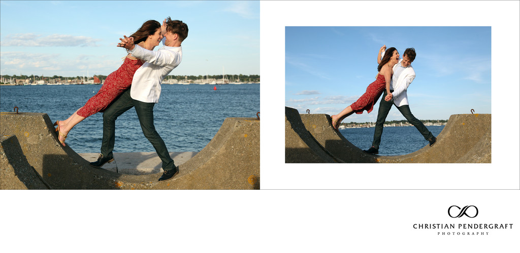 Heather and Greg's Engagement Newport Rhode Island 9