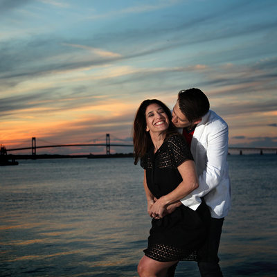 Newport Rhode Island Engagement Sunset