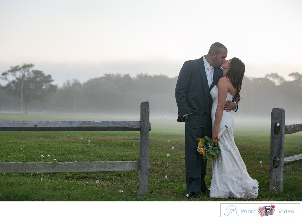 Foggy Night Wedding Photos - Mansion at Timber Point