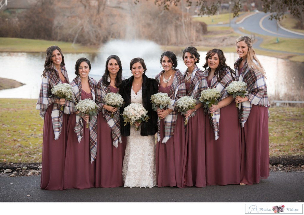 Barn Wedding Bridal Party Photos