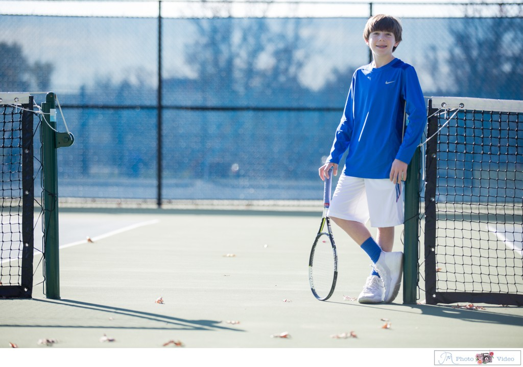 Tennis themed casual Bar Mitzvah shoot