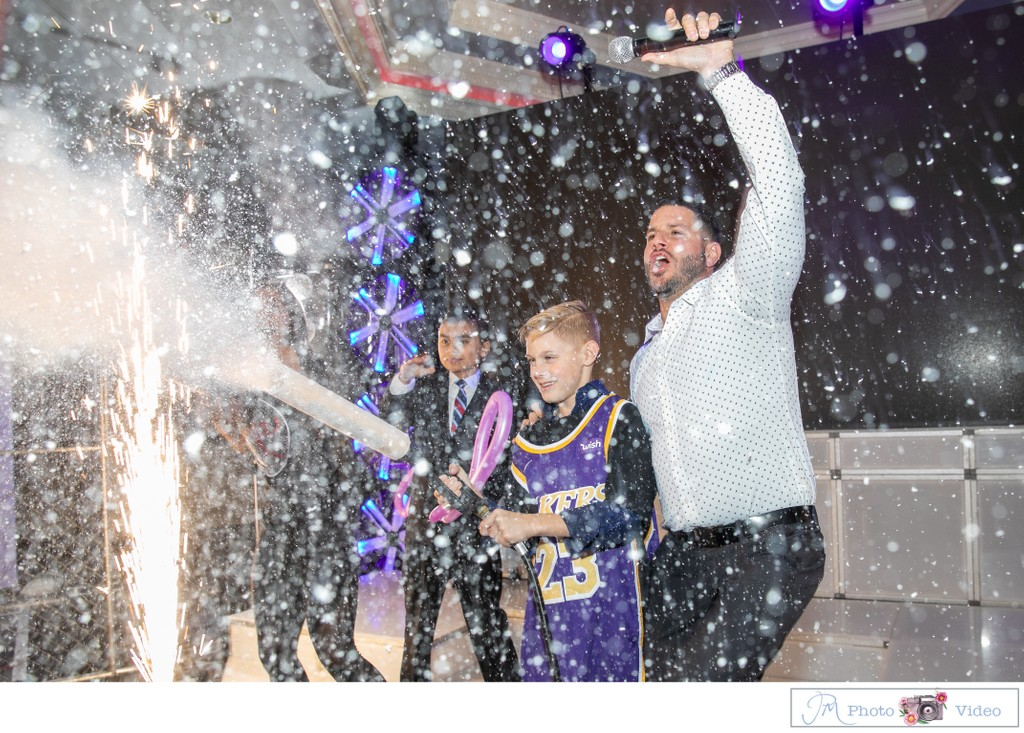 Bar Mitzvah with Co2 cannon at Temple Judea