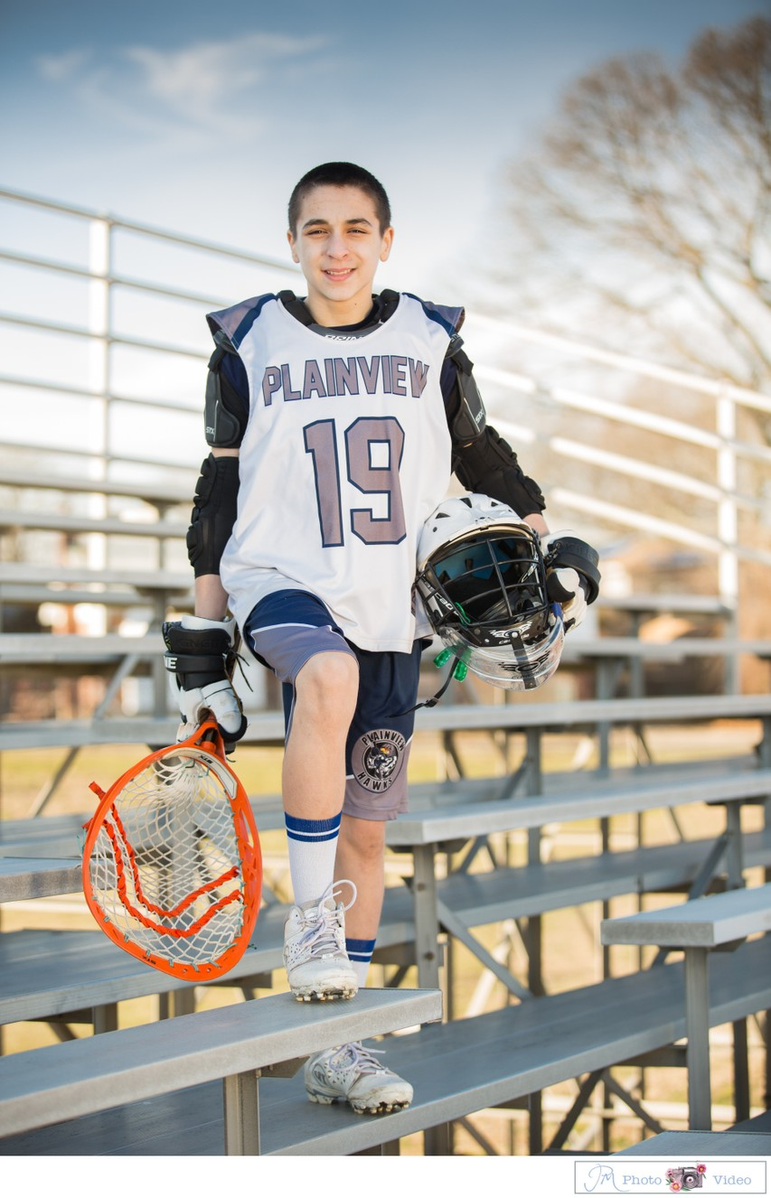 Lacrosse theme Bar Mitzvah casual shoot Plainview NY
